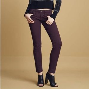 Rag & Bone The Dre Jeans in Aged Burgundy